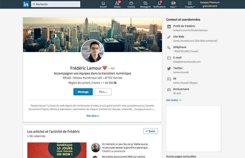 Illustration créer un profil efficace sur Linkedin